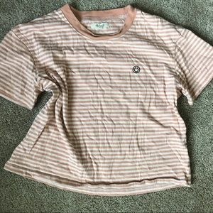 Madewell Be Happy Striped Tee Shirt